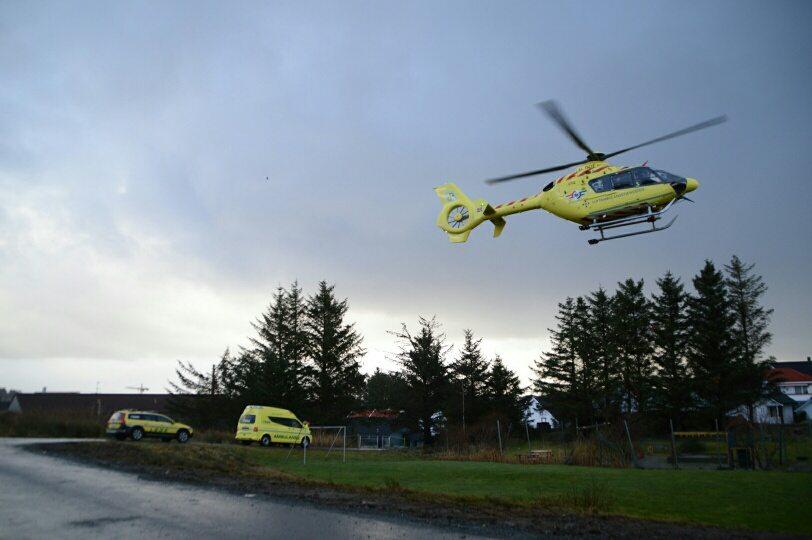 Ambulansehelikopter helikopter skudeneshavn FOTO: Kjell Bua