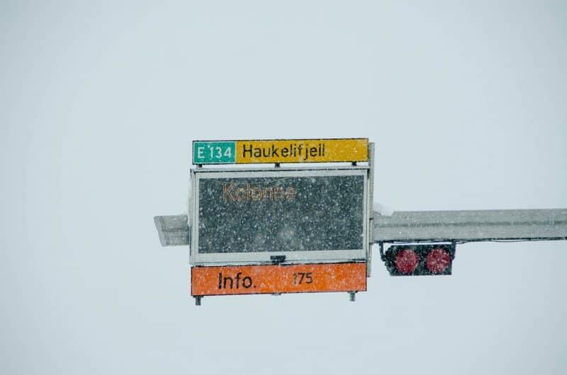 Kolonnekjøring Haukeli E134 E 134