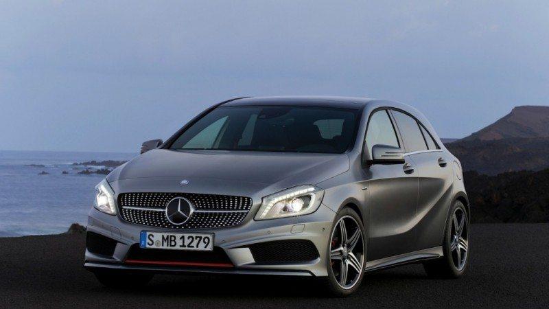 Det er en slik Mercedes Benz Aa-class 2013 modell som er meldt stjålet.