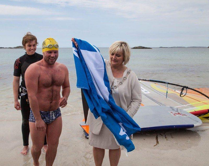 Blått flagg, Åkrasanden, Stian Vikra, Åse Simonsen