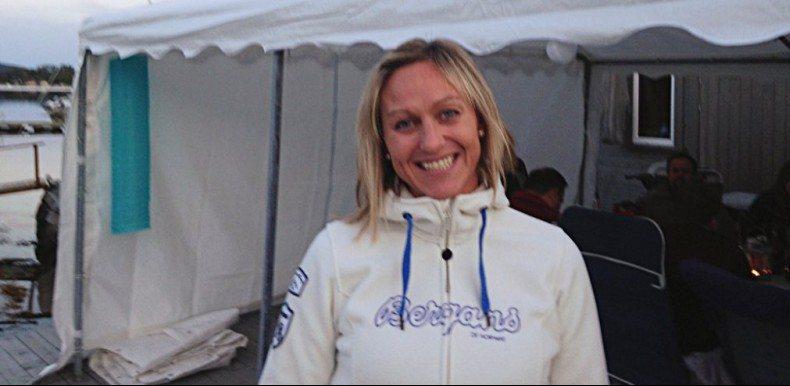 GOD STEMNING: Ingrid Selsås Katla var en av de heldige naboene som vant 100 000 kroner.