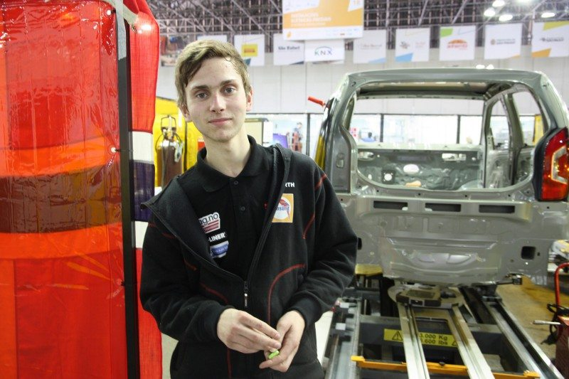 Anders Lint Moland (18). FOTO Worldskills Norway