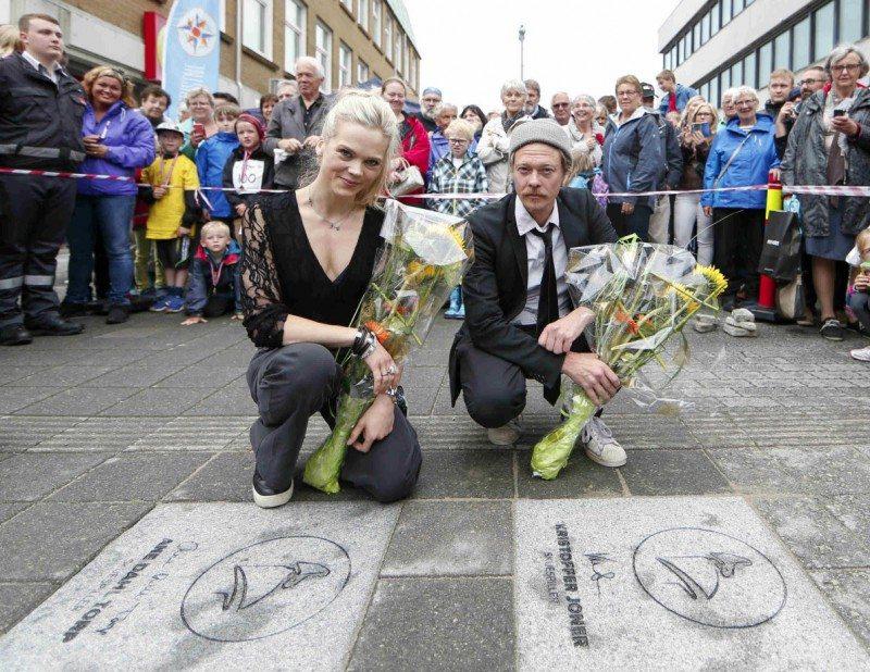 Walk of fame. Kristoffer Joner og Ane Dahl Torp