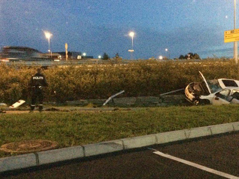 Ulykke ved Kiwi i Spannavegen. FOTO: Tone Merete Bjelland