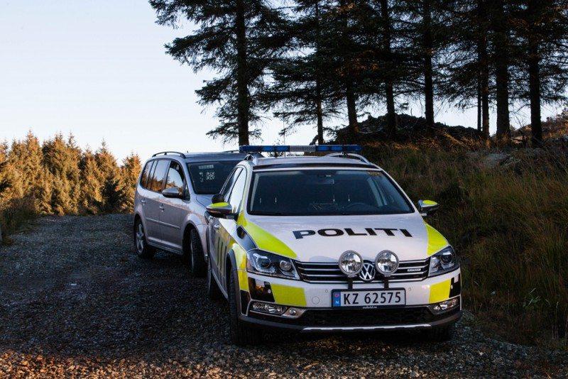 Bil jakt politi Kvalavåg