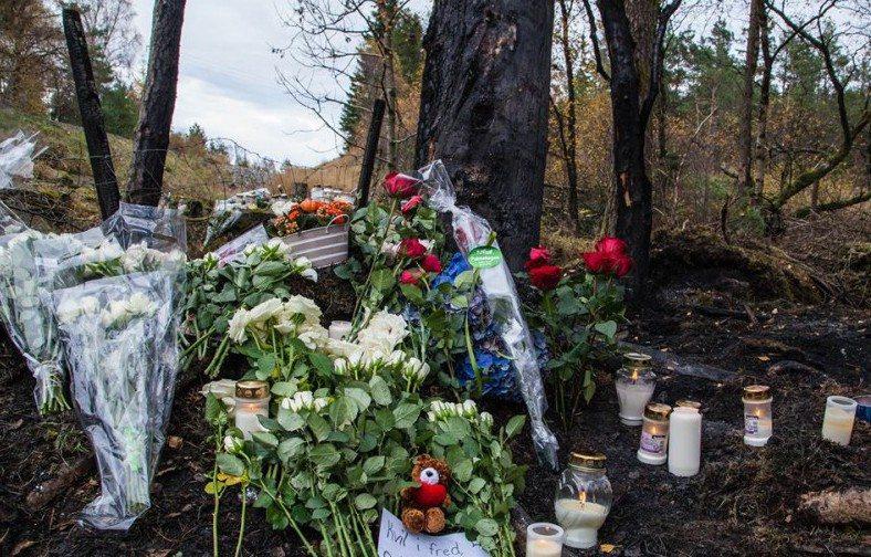 omkom Skjoldastraumen blomster