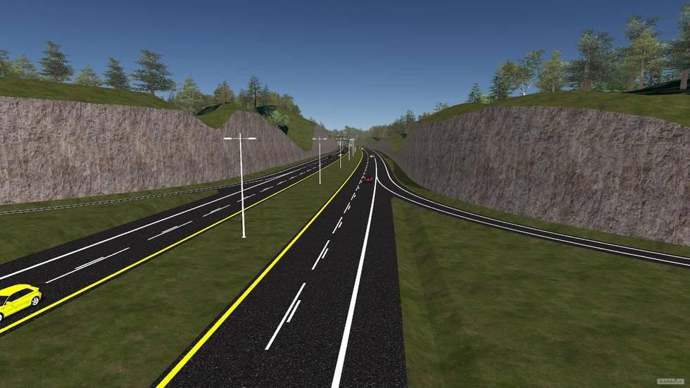 Forslag til nytt kryss ved Heiane på Stord