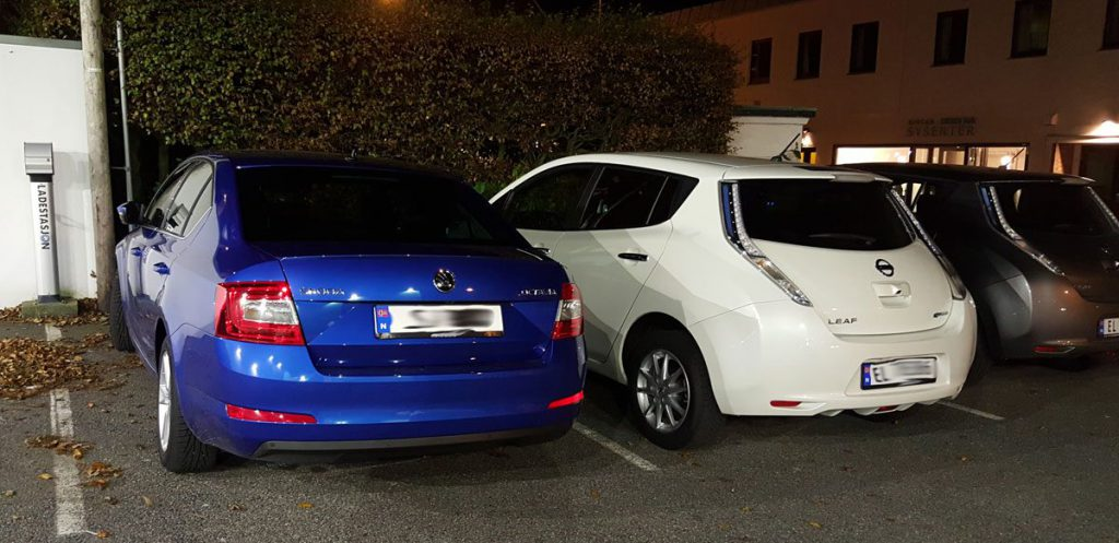 elbil parkering
