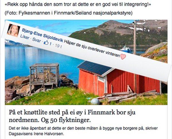 facebook kommentar Bjørg-Else Skjoldevik