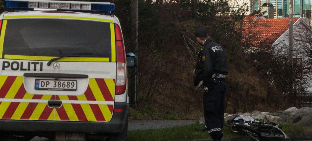 Sykkelulykke Karmsundgata Foto: Kjell Bua