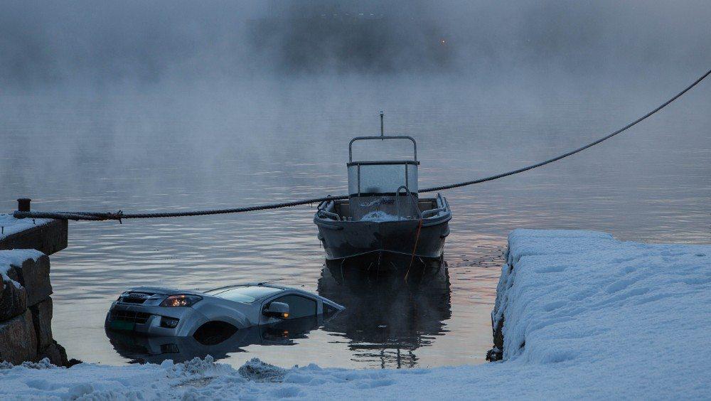 Bil på sjøen