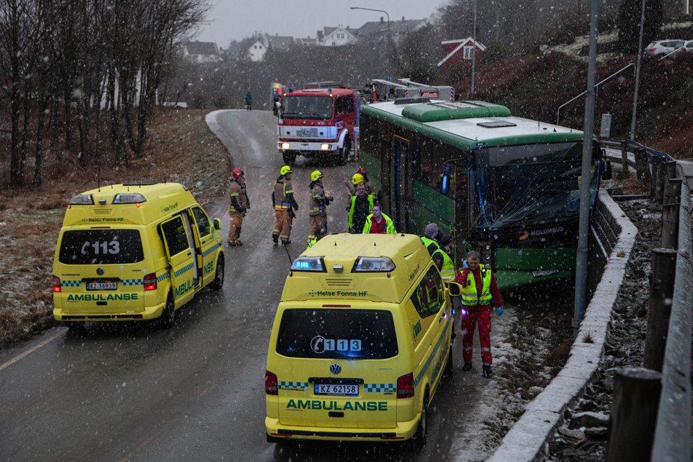 ulykke buss Kopervik