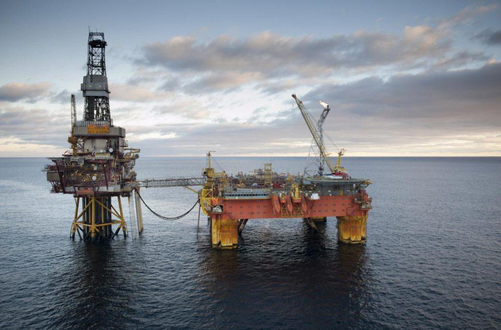 Veslefrikk plattform Nordsjøen