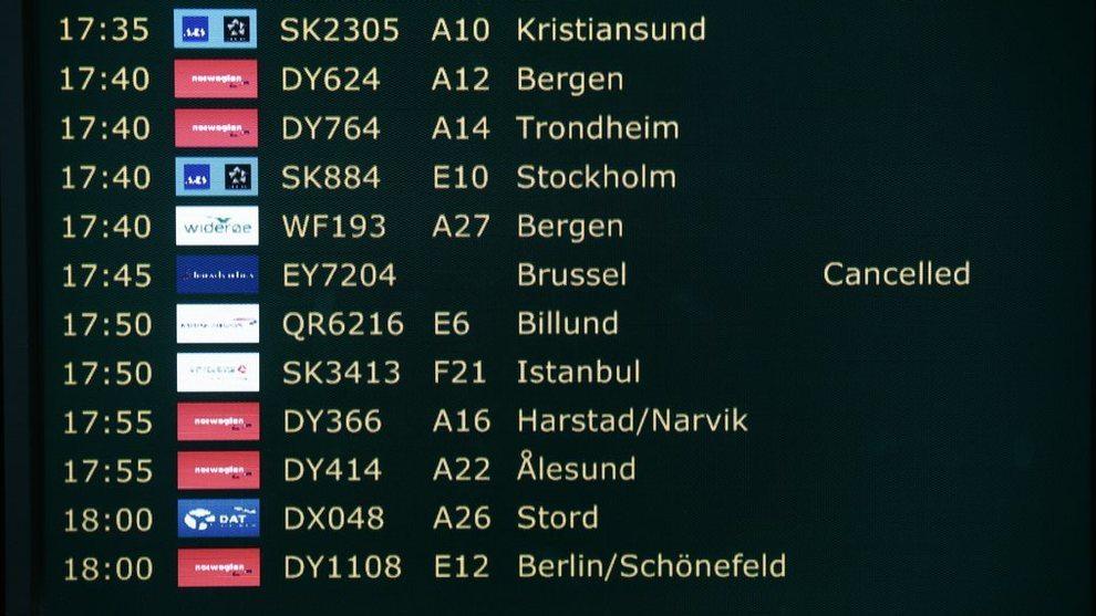 Brussel kansellert fly