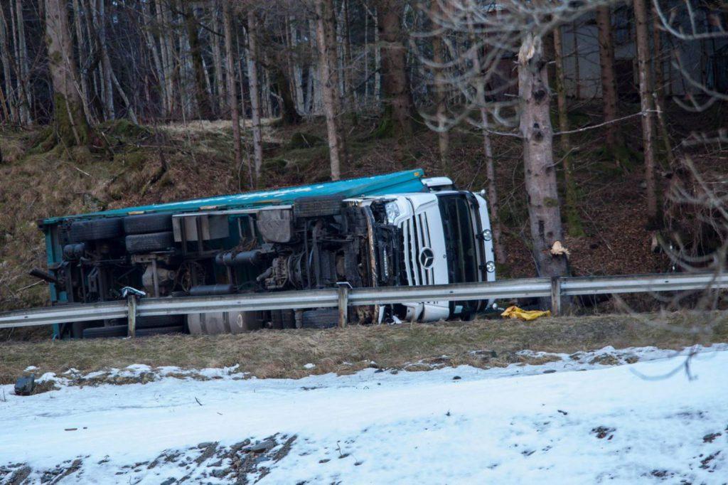 Ulykke Etne FOTO: Kjell Bua