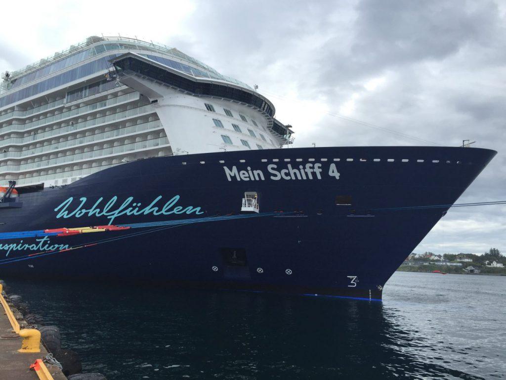 Cruiseskipet Mein Shiff 4 Foto: Destinasjon Haugesund & Haugalandet