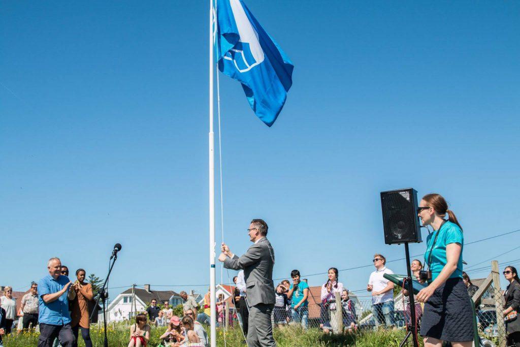 Blått Flagg