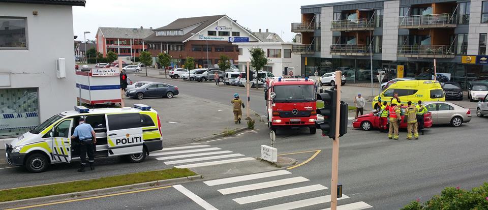 ulykke Aakrehamn trafikk FOTO: Ove Jan Olsen