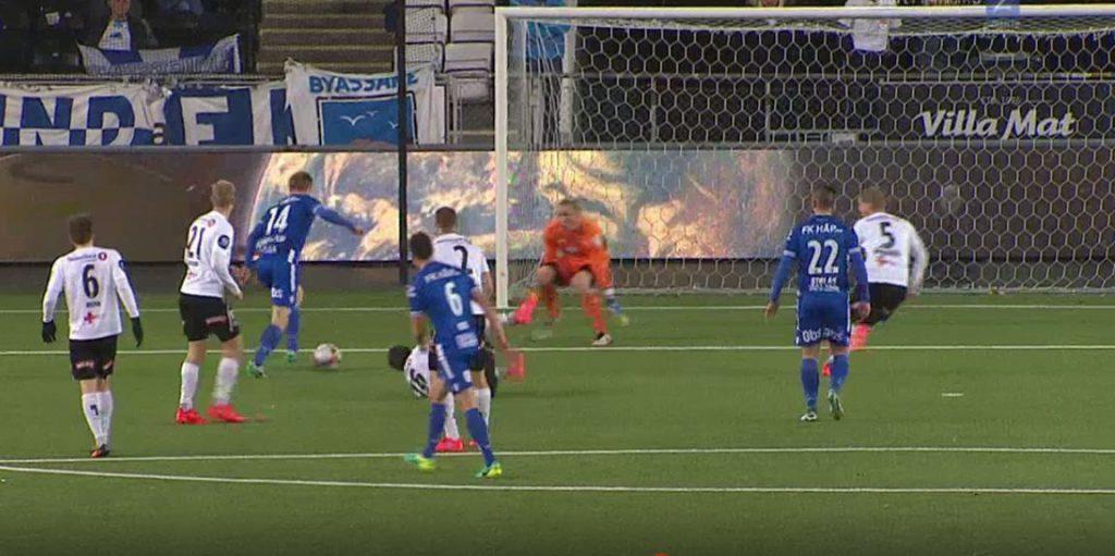 FKH Odd Skjerve scoring FOTO: Cmore