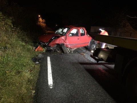 ulykke kopervik austre Karmøyveg natt skadd
